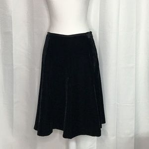 Axcess by Liz Claiborne Black Velvet A-Line Skirt